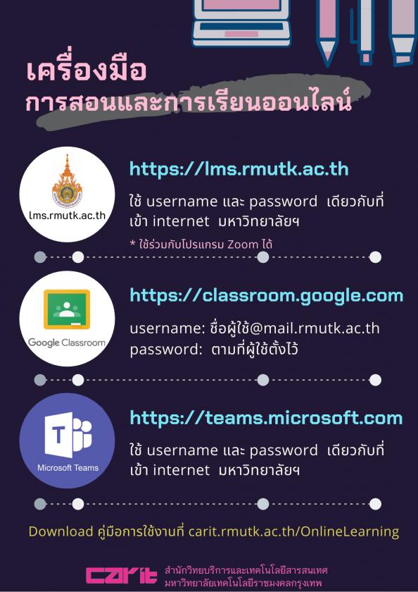 เครื่องมือการเรียน และการสอนออนไลน์